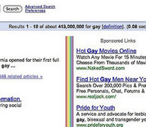 Gay movie search engine